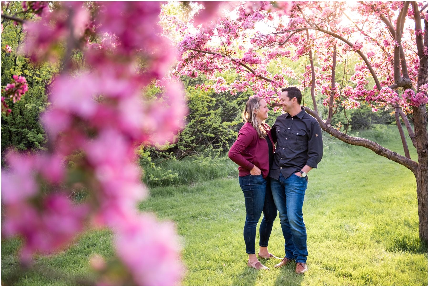Cherry Blossom Couple Photos Calgary
