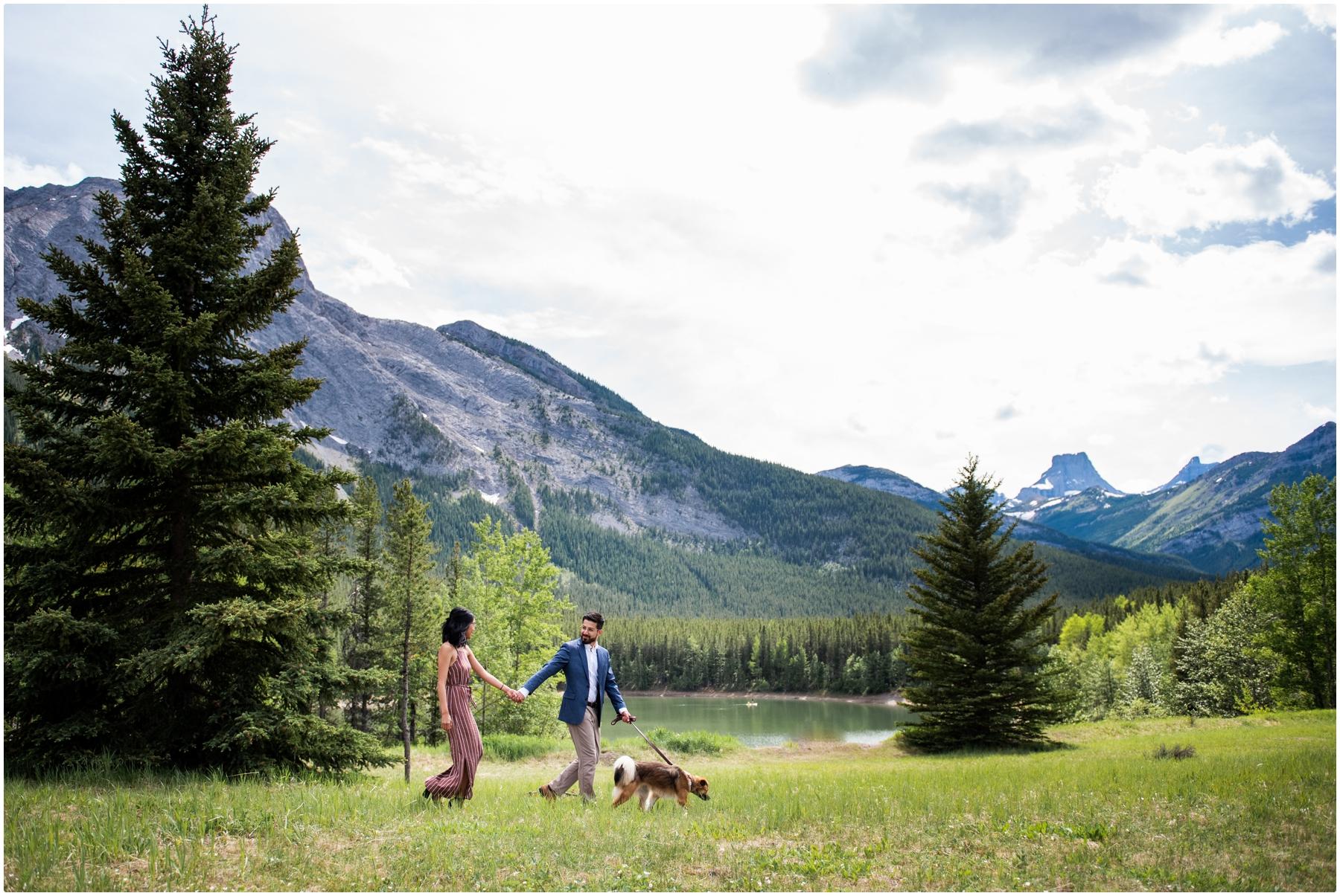 Kananaskis Engagement Photography -Wedge Pond