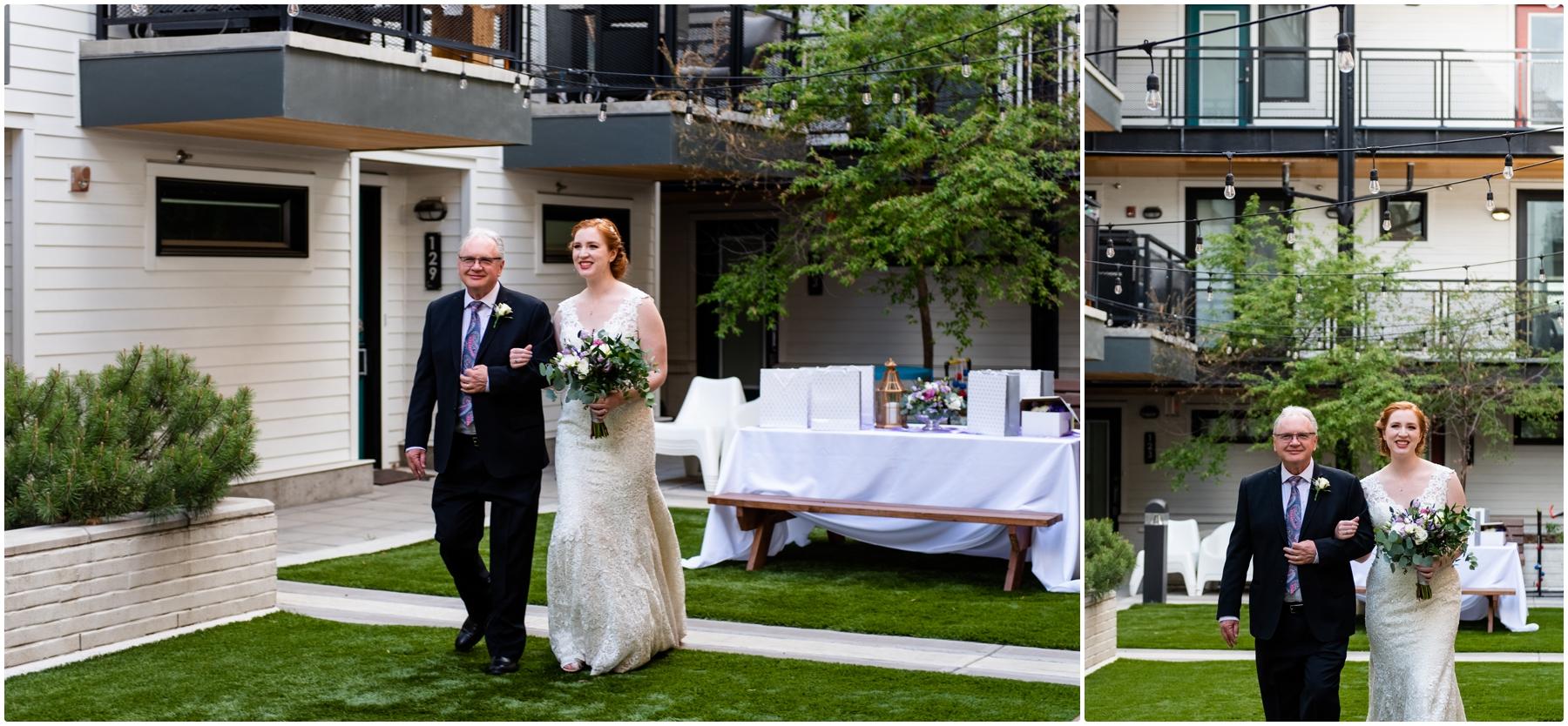 Urban Intimate Wedding Ceremony Photographer Calgary