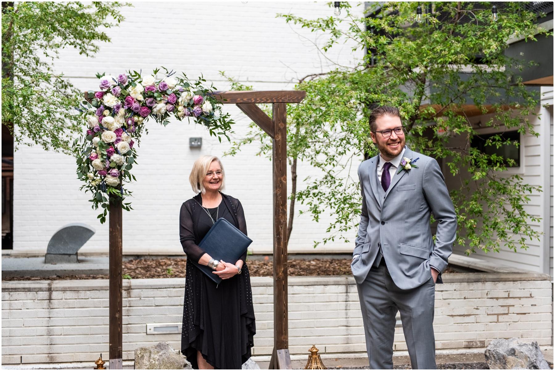 Urban Intimate Wedding Ceremony Photos Calgary