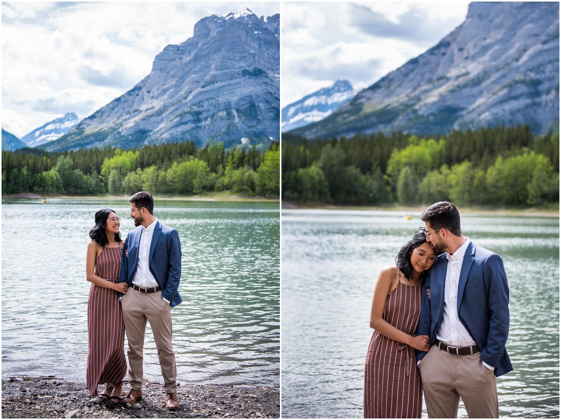 Wedge Pond Engagement Photography Kananaskis