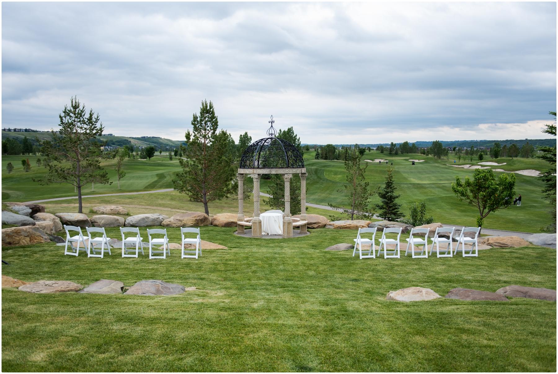 Blue Devil Golf Course Wedding Ceremony