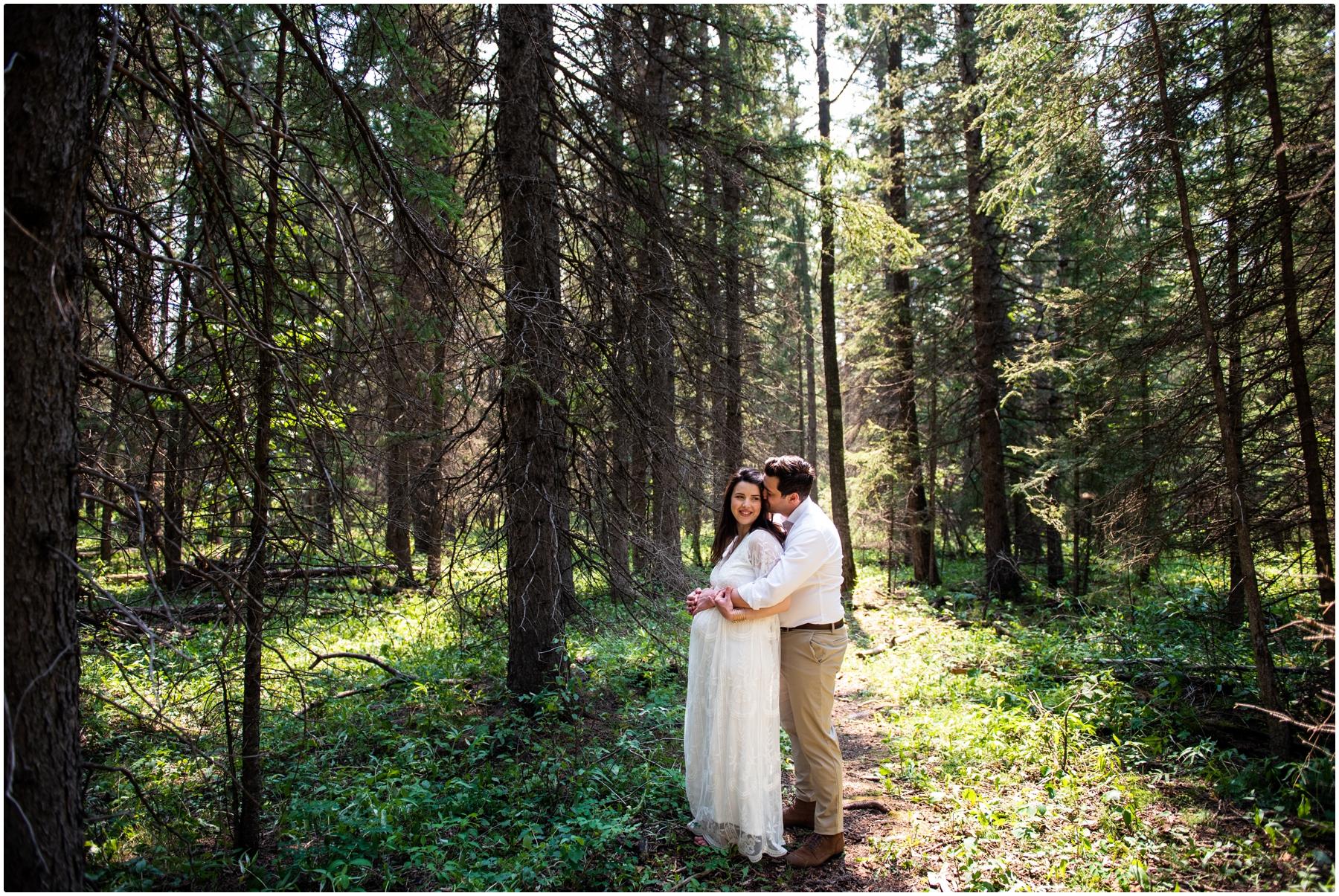 Calgary Summer Creek Maternity Photographer