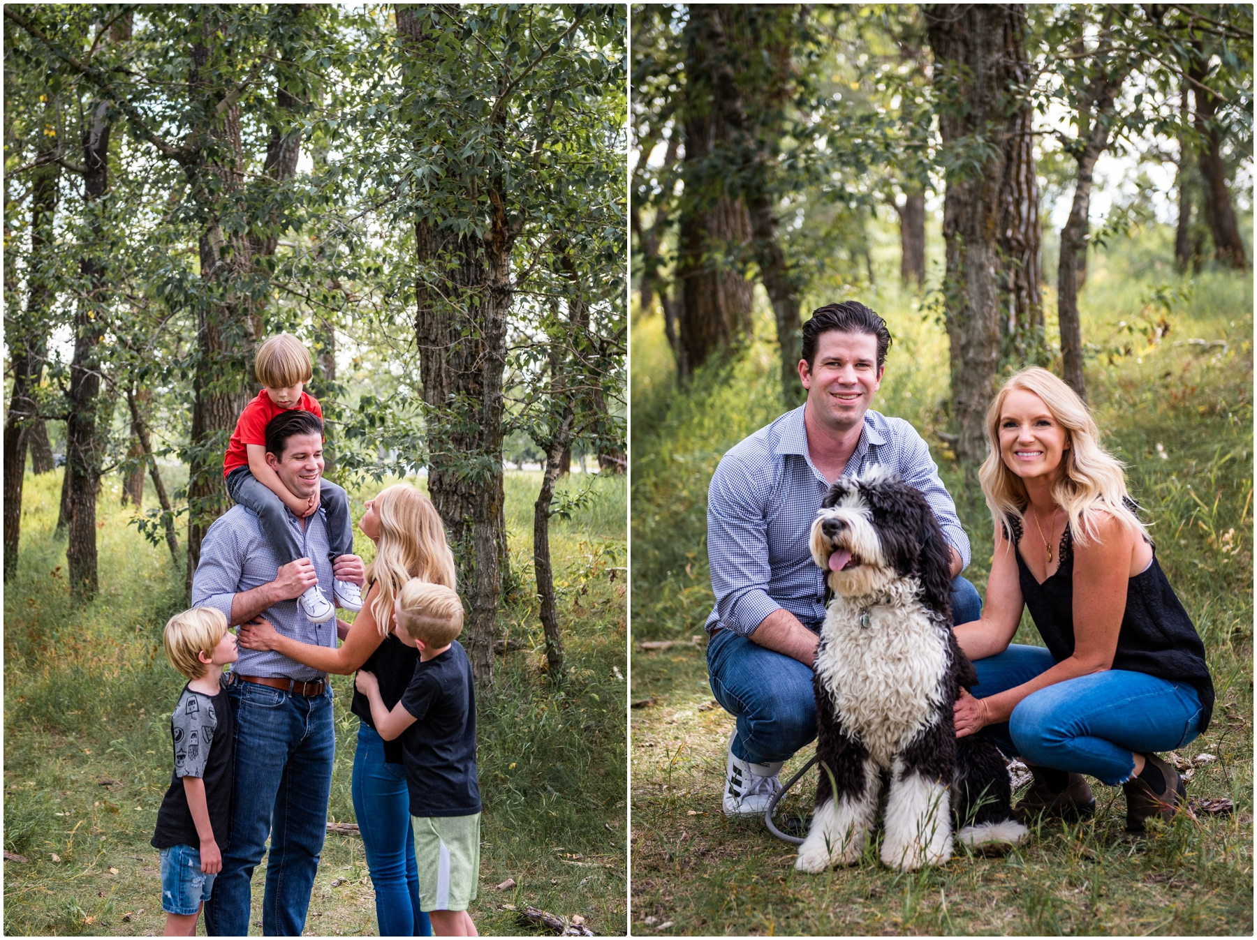 End of Summer Calgary Forest Family Photographer